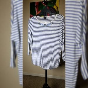 Ann Taylor striped shirt - never worn